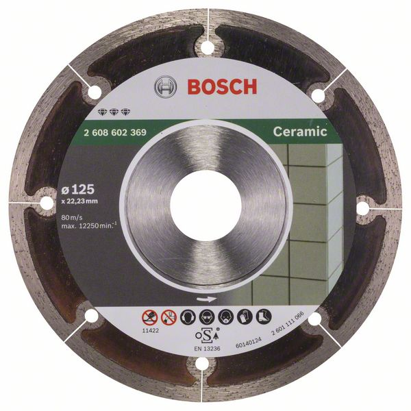 BOSCH Алмазный круг 125-22,23 Best for Ceramic Extra-Clean BOSCH 2608602369