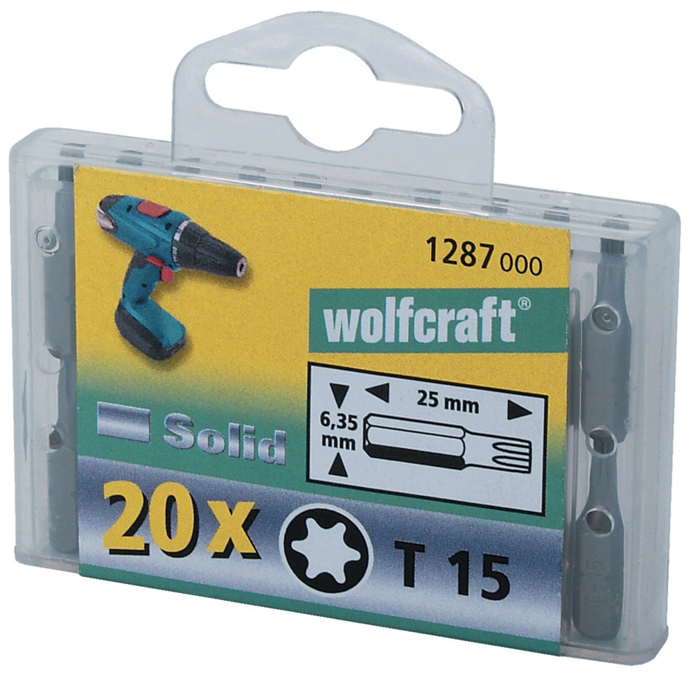 Wolfcraft Набор 20 бит Филипс PH 1 Wolfcraft 1280000