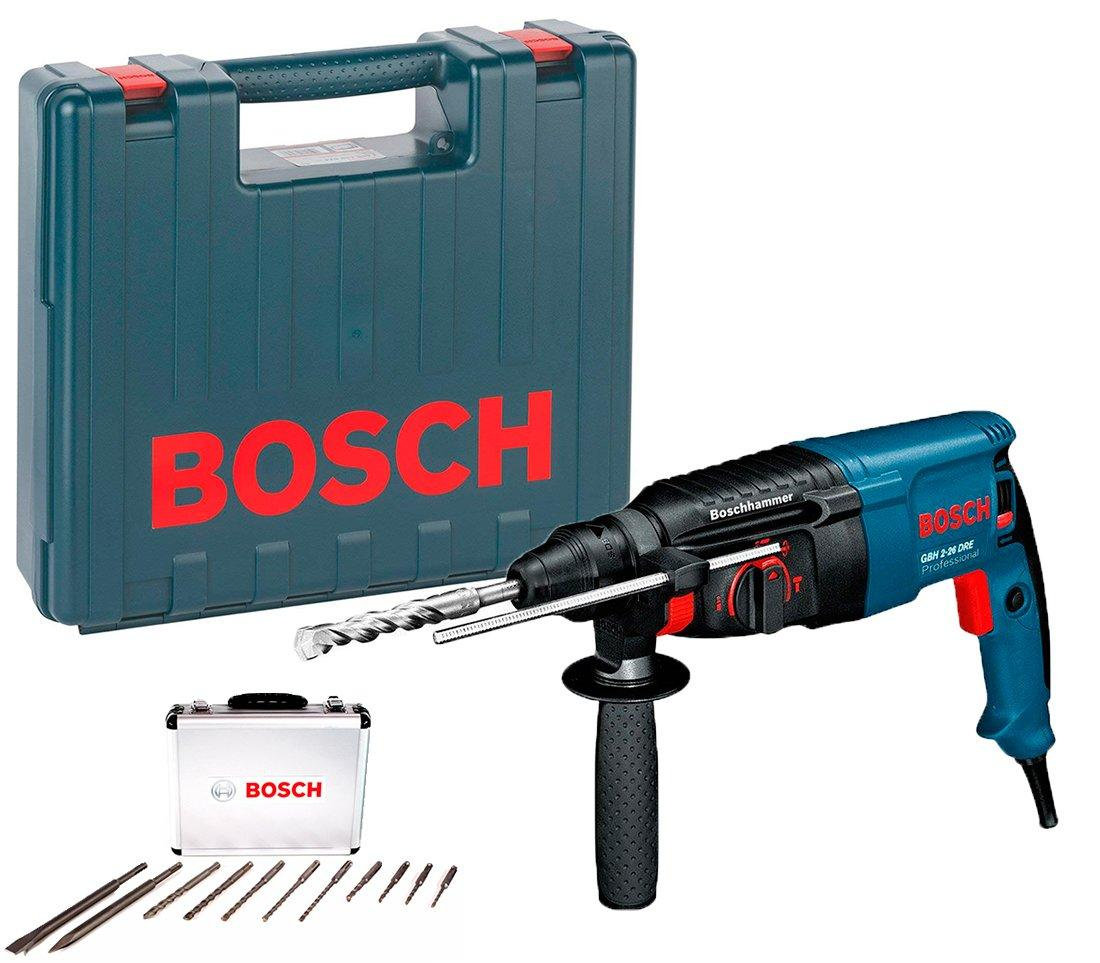 BOSCH Перфоратор GBH 2-26 DRE + SDS Plus Set (11 шт.) BOSCH 0615990L43