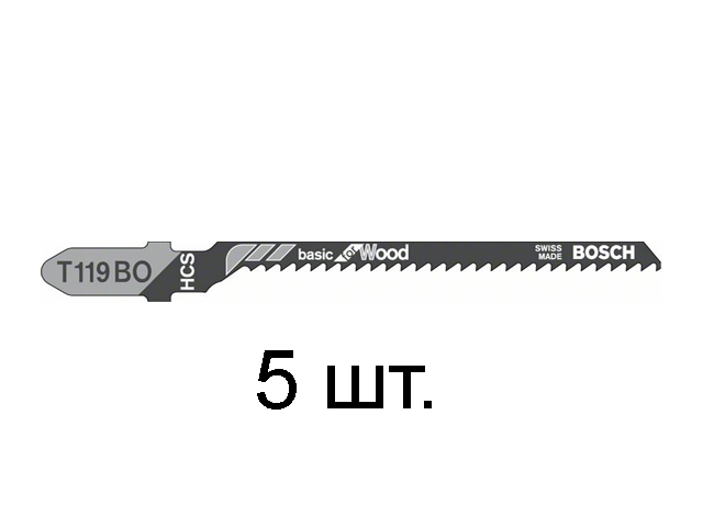 BOSCH Пилка для лобзика T 119 ВO Basik for Wood BOSCH 2608630310