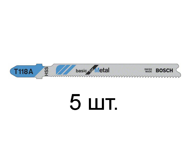 BOSCH Пилка для лобзика T 118 A Basik for Metal BOSCH 2608631013